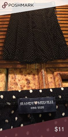 Brandy Melville Skirt Brandy Melville Black and White polka dot skirt  excellent condition Firm on price $9 Brandy Melville Skirts