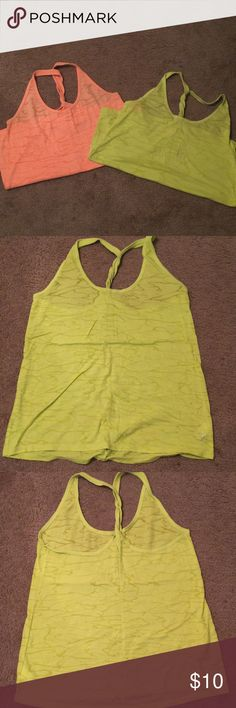 Old Navy Active Tanks 2 Old Navy Active Tanks- Neon Yellow and Neon Orange- Size L Old Navy Tops Tank Tops