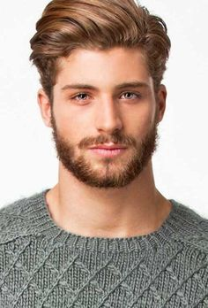 Mens-Medium-Length-Hairstyle with short beard