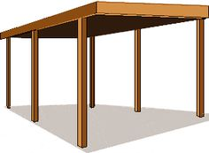 How to build Carport Building Plans PDF woodworking plans Carport building plans Search our collection of 1 Patio Covers Carports and sheltered parking alternatives for garage plans in this collection of blu Carport Adossé, Lean To Carport, Building A Carport, Carport Plans, Shed Plans, Building Plans, Building Permit, Carport Kits, House Plans
