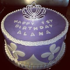 Sofia the First cake for my niece's first birthday!