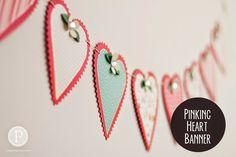 Pinking Heart Banner $18.99 or Kit $12.99  pebblesinmypocket.com