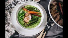 Zöldborsófőzelék sertésszűzzel - Lila füge: Havas Dóra Healthy Recepies, Doraemon, Asparagus, Vegetables, Youtube, Studs, Vegetable Recipes, Youtubers, Veggies