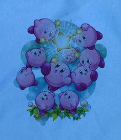 Soft Premium Quality Nintendo N64 gameboy DS 3ds Kirby's Adventure T-Shirt Tee Tshirt