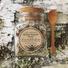 Bath Salts All Natural Sea Salt Bath Botanical by BumbleandCo Floral Bath, Bath Tea, Natural Cosmetics, Bath Salts, Bath Fizzies, Homemade Gifts, Diy Gifts, Natural Skin Care, Natural Salt