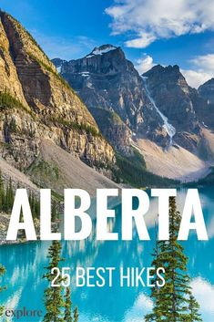 The 25 best hikes in Alberta, Canada. Vancouver, Toronto, Camping And Hiking, Hiking Trails, Hiking Gear, Camping Gear, Hiking Site, Camping Hammock, Camping List
