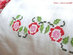 Cross Stitching Rose Garden....i should learn how to cross stitch