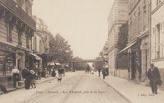 rue d'Auteuil - Paris 16ème Paris 1900, Old Paris, Vintage Paris, Paris Photos, Belle Epoque, Historical Photos, Street View, France, Poster