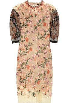 BIYAN  Ankskarina embroidered tulle dress