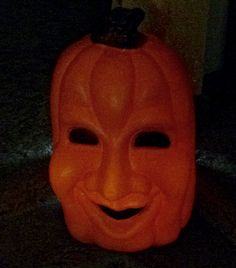 Bought this spooky, old, 3 ft. tall, plastic jack-o-lantern for my brother for one dollar.  He loved it, and I'll treasure it always.