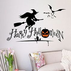 Naladoo Halloween Home Decor Wall Stickers DIY Removable Vinyl Wall Sticker ** Click on the image for additional details. (This is an affiliate link) #WallDcor