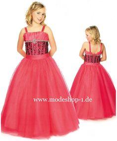 Mode Mädchen Kleid Blumenmädchen Kleid Viola   www.modeshop-1.de