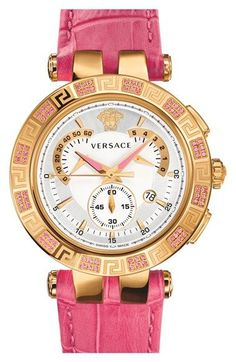Versace+'V-Race+Precious'+Chronograph+Leather+Strap+Watch,+42mm+available+at+#Nordstrom