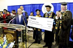 Voorhees College SCE&G check presentation of $100000