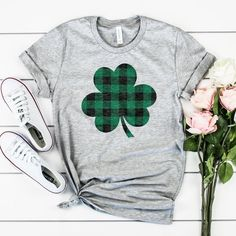 Patrick's Day T-Shirt Funny Lucky Clover Graphic Casual Tops St Patrick's Day Outfit, Outfit Of The Day, St Pattys, St Patricks Day, Casual T Shirts, Casual Tops, Fly Store, St Patrick Day Shirts, T Shirts