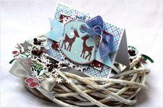Wianek i kartka świąteczna dla Lemoncraft - Christmas wreath and card for Lemoncraft