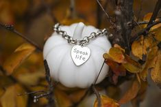 *Bella Grace, Speak Life Heart-Shaped Charm Bracelet* You never know how much a few kind words can mean to someone else.