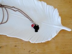 shrinky dinks necklace silhouette