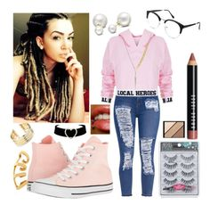 """""""😎😜😍😄"""" by blue488 ❤ liked on Polyvore featuring Local Heroes, Sirius, Converse, Allurez, Bobbi Brown Cosmetics, Elizabeth Arden, Belk Silverworks and By Emily"""