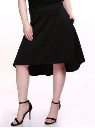 Plus Size Chic Black Dovetail Skirt