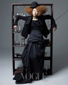 Great Skirt!!  Marionette, Vogue Korea December 2007 | P.S. Korea