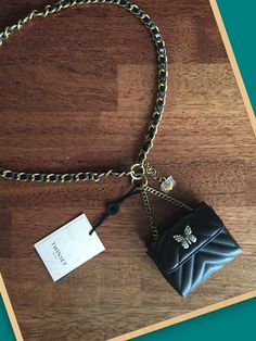 Twin Set Chain Belt with Micro Bag Fashion Deals, Women's Fashion, Chain Belts, Arrow Necklace, Twins, Bags, Accessories, Jewelry, Handbags
