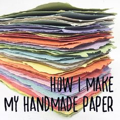 How I make Handmade Paper title image Arts And Crafts, Sculpture, My Favorite Things, Creative, Repurposed, Deer, How To Make, Blog, Handmade