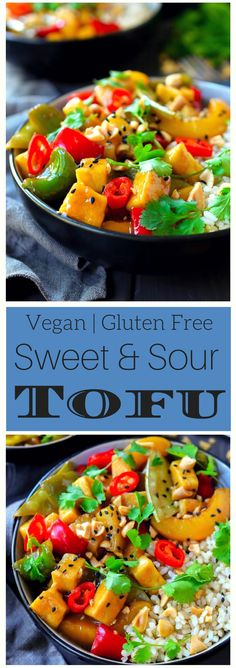 Vegan sweet and sour tofu ready in less than 30 minutes.