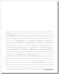 Christmas/ thank you letter templates and printable journal pages