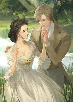 Manga Couple, Anime Love Couple, Anime Couples Manga, Cute Anime Couples, Manga Anime, Character Inspiration, Character Art, Queen Anime, Fantasy Couples
