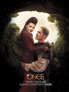 Awesome Evil Queen Regina and Robin on an awesome Once poster