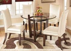 Underpriced Furniture Express Centiar Two Tone Brown Rectangular Dining Room Table Round Dining Room Dining Room Sets Upholstered Dining Chairs
