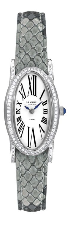 Ladies Diamond Watch with Grey Python Strap - Grandis Diamond Toff Collection $3140.00