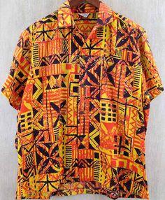 42ddb6c7 Kiilani, a Shaheen label, 50s or 60s Vintage Hawaiian, Aloha Shirt, Men's