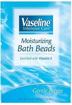 Vaseline Intensive Care Moisturizing Bath Beads, « Holiday Adds