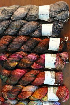 Ravelry is a community site, an organizational tool, and a yarn & pattern database for knitters and crocheters. Weaving Yarn, Dyeing Yarn, Crochet Yarn, Knitting Yarn, Hedgehog Fibres, Spinning Wool, Yarn Storage, Yarn Inspiration, Yarn Stash