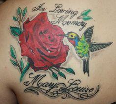 hummingbird and rose tattoo s - Google Search