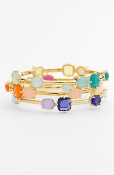 Rainbow on your wrist: kate spade new york 'coated confetti' bangle