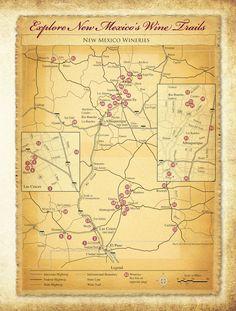 New Mexico Wine Region Map New Mexico Santa Fe, Taos New Mexico, History Of Wine, Santa Fe Style, Land Of Enchantment, Brew Pub, In Vino Veritas, Wine Festival, Vacation Places