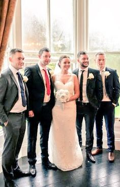 Fergal with his brothers and sister on her wedding day