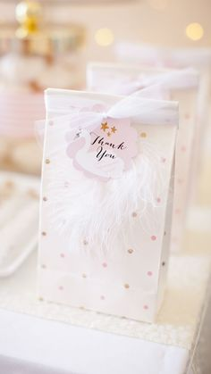 Treat Bags from Sweet Swan Party Styled by Kiss Me Kate Studios 1st Birthday Party For Girls, Birthday Gift Bags, Party Gift Bags, Birthday Party Favors, Kids Party Bags, Ballerina Party Favors, Birthday Party Decorations For Adults, Teenager Birthday, Princess Party Favors