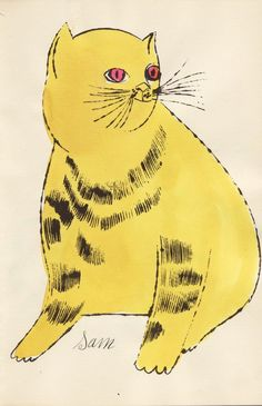 (Yellow Sam with Red Eyes) | Andy Warhol, (Yellow Sam with Red Eyes) (ca. 1954)