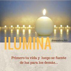 Sana tú vida y resuelve tus problemas para que puedas proyectar tú luz y ayudar a expandir la de los demás!.