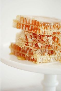 honeycomb...when I was a kid, my great uncle had bees and we always had a comb of honey on the table.