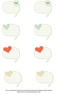 sweet thought bubbles - free printable journal spots from Write Click Scrapbook