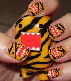 Marias Nail Art And Polish Blog Tiger Domo Kun Qee Celebreity Artsy Wednesday Funky