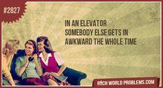 I hate awkward elevator rides!!