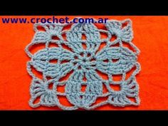 Motivo cuadrado granny square en tejido crochet tutorial paso a paso. Nº 3.