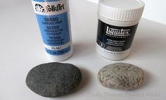 Painting Rock & Stone Animals, Nativity Sets & More: Is Gesso a Good Primer for Painted Rocks? Paint Pens For Rocks, Painted Rocks Craft, Hand Painted Rocks, Acrylic Craft Paint, White Acrylic Paint, Painting Tools, Stone Painting, Rock Painting, Best Primer