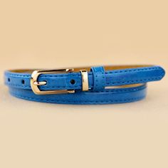 $6.61 Cute Candy Color Slender Leather Waist Belt For Women